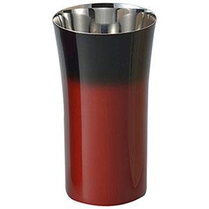 【アサヒ ASAHI】漆磨 シングルカップS 1客 赤彩 SCS-S602