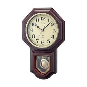 納期: 取寄品 春の新作続々 キャンセル不可 出荷:約8-12日 土日祝除く ノア精密 NOA 鹿鳴館DX ブラウン 電波振り子時計 お買得 ロクメイカン W-640 BR