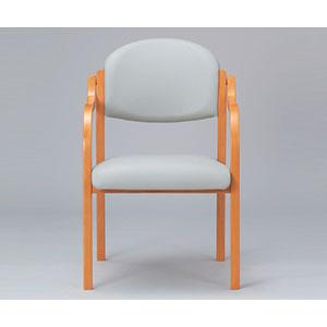【アイコ】木製椅子 グレー MW-320(VG1)LGR