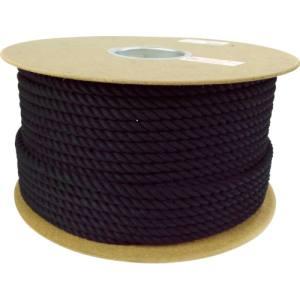 【ユタカメイク Yutaka】ロープ 綿ロープドラム巻 9φ×100m ブラック PRC-51