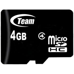 メール便3個まで対象商品 納期: 取寄品 キャンセル不可 出荷:約10-14日 オーバーのアイテム取扱☆ 土日祝除く Class4 人気ブランド microSDHC 4GB Team チーム TG004G0MC24A