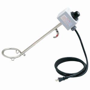 【フジマック FUJIMAC】投げ込みヒーター 温度調整 サーモスタット付 1KW 370mm SH-1000S