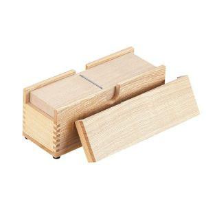 【小柳産業】木製業務用かつ箱(タモ材) 小 BKT03003