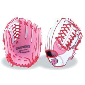 【プロマーク Promark】ソフトボール用グラブ レディース用 オールラウンド ピンク/ホワイト PGS-3157
