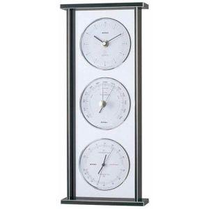 【EMPEX】スーパーEX ギャラリー気象計・時計 シルバー EX-793