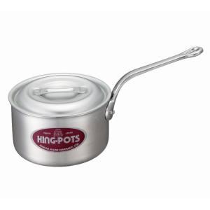 【中尾アルミ製作所】キング アルミ 深型 片手鍋(目盛付)30cm