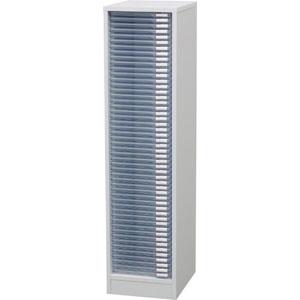 【アイリスオーヤマ IRIS】木製フロアケース デスク脇サイズ MFE-1500 ホワイト 超浅型50段
