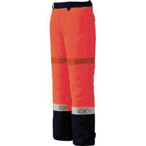 【ジーベック XEBEC】800 高視認防水防寒パンツ 3L オレンジ 800-82-3L