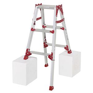 【ピカ PICA】ピカ 四脚アジャスト式はしご兼用脚立 すぐノビ 1.51~2.16m SCP-90