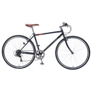 送料無料!!【マイパラス MYPALLAS】クロスバイク700C 6SP ブラック 自転車 M-604-BK 【メーカー直送 代引き不可】【smtb-u】