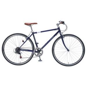 送料無料!!【マイパラス MYPALLAS】クロスバイク 700C 6SP ブルー 自転車 M-604-BL 【メーカー直送 代引き不可】【smtb-u】