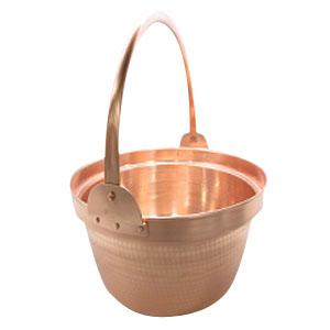 【丸新銅器】銅 山菜鍋 36cm 内側錫引きなし