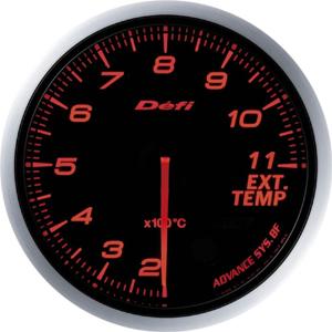 送料無料!!【デフィ Defi 日本精機】Defi-Link ADVANCE BF 排気温度計 アンバーレッド DF10602【smtb-u】