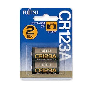 メール便3個まで対象商品 富士通 FUJITSU カメラ用リチウム電池 再入荷 予約販売 3V×2個入り 信用 CR123AC 3V N 2B