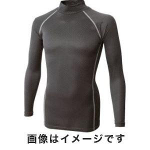 【おたふく手袋 OTAFUKU(メール便1個のみ対象商品)】おたふく手袋 BT織柄チェック ハイネックシャツ ブラック LL JW-172