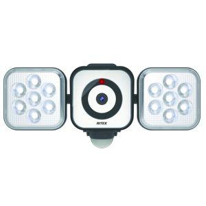 【ムサシ MUSASHI】ライテックス RITEX LEDセンサーライト 8W×2灯 +防犯カメラ C-AC8160