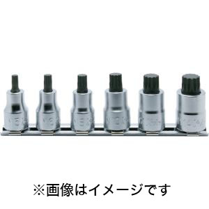 【コーケン Ko-ken】9.5mm差込 3重4角ビットソケット(XZN)レールセット 6ヶ組 RS3020/6-L38