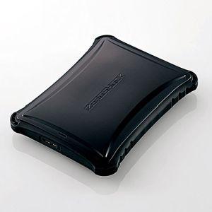 【エレコム ELECOM】ZEROSHOCK ポータブルハードディスク (HDD) 1TB USB3.0対応 耐衝撃 ブラック ELP-ZS010UBK