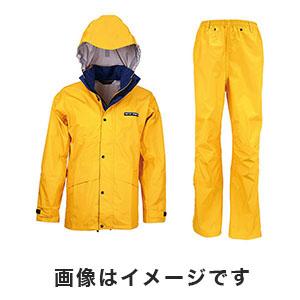 【カジメイク kajimeiku】スリーレイヤースーツ イエロー LLサイズ 7700-11-LL 上下 レインウェア 登山 バイク 作業 カッパ 雨具