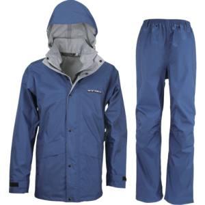 【カジメイク kajimeiku】スリーレイヤースーツ ネイビー LLサイズ 7700-55-LL 上下 レインウェア 登山 バイク 作業 カッパ 雨具