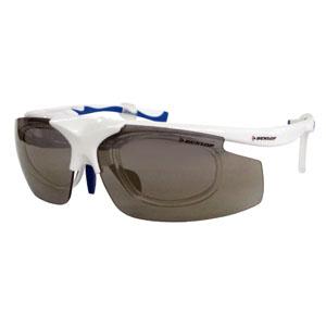 【ダンロップ DUNLOP】無料度付きサングラス はね上げタイプ 蛍光ホワイト DU-019