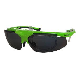 【ダンロップ DUNLOP】無料度付きサングラス はね上げタイプ 蛍光グリーン DU-019