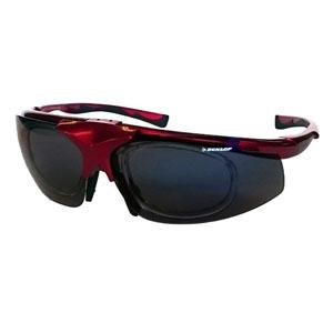 【ダンロップ DUNLOP】無料度付きサングラス はね上げタイプ メタリックレッド DU-019