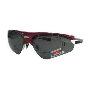 【ダンロップ DUNLOP】無料度付きサングラス はね上げタイプ メタリックレッド DU-002