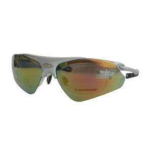 【ダンロップ DUNLOP】無料度付きサングラス はね上げタイプ メタリックシルバー DU-002