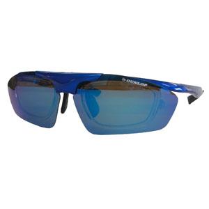 【ダンロップ DUNLOP】無料度付きサングラス はね上げタイプ メタリックブルー DU-010