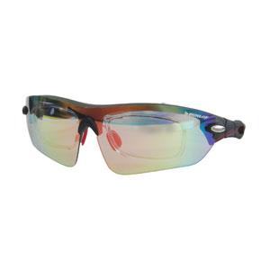 【ダンロップ DUNLOP】無料度付きサングラス 1眼タイプ マットブラック/レッドブラック DU-006