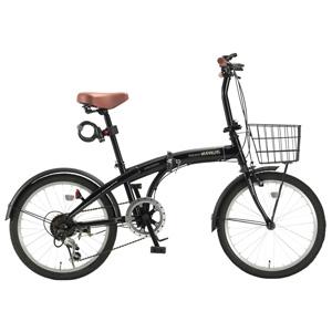 送料無料!!【マイパラス MYPALLAS】折畳自転車20・6SP・オールインワン ブラック HCS-01-BK 【メーカー直送 代引不可】【smtb-u】