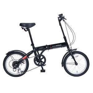 送料無料!!【マイパラス MYPALLAS】折畳自転車16・6SP ブラック M-103-BK 【メーカー直送 代引不可】【smtb-u】