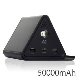 【チーロ cheero】モバイルバッテリー CHE-086-BK Power Mountain 50000mAh_BtoB ブラック