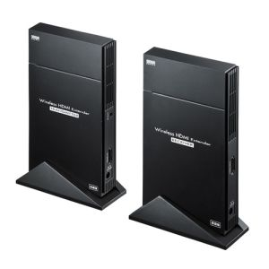 【サンワサプライ SANWA SUPPLY】ワイヤレスHDMIエクステンダー(据え置きタイプ・セットモデル) VGA-EXWHD5