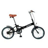 送料無料!!【マイパラス】M-101 ブラック 16インチ 折畳自転車【メーカー直送 代引き不可】【smtb-u】