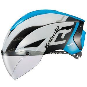 【オージーケーカブト OGK Kabuto】自転車ヘルメット AERO-R1 エアロ-R1 L/XL G-1ホワイトブルー