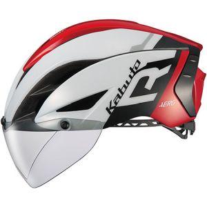 【オージーケーカブト OGK Kabuto】自転車ヘルメット AERO-R1 エアロ-R1 XS/S G-1ホワイトレッド