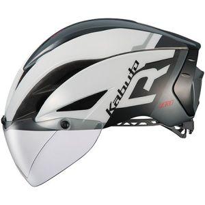 【オージーケーカブト OGK Kabuto】自転車ヘルメット AERO-R1 エアロ-R1 XS/S G-1ホワイトダークグレー