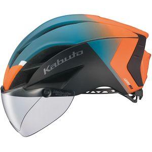 【オージーケーカブト OGK Kabuto】自転車ヘルメット AERO-R1 エアロ-R1 L/XL G-2マットオレンジグリーン