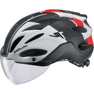 【オージーケーカブト OGK Kabuto】オージーケーカブト OGK ヴィット VITT L G-1マットホワイトレッド 自転車ヘルメット
