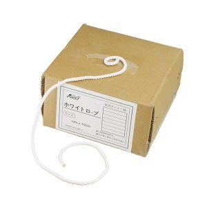 【水上金属 MIZUKAMI】トラック用ホワイトロープ φ14×100m 0953-02014