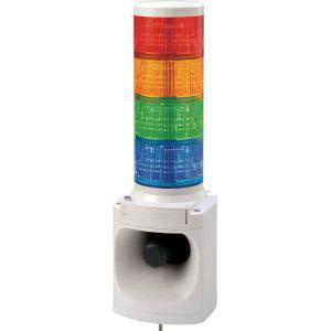 【パトライト PATLITE】パトライト PATLITE LED積層信号灯付き電子音報知器 LKEH-410FA-RYGB