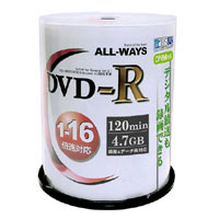気質アップ オールウェイズ ALL WAYS ACPR16X100PW 録画用DVD-R 100枚 16倍速 約120分 国内正規品 CPRM