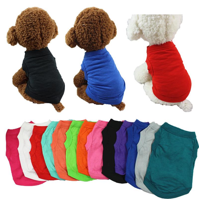 送料無料 2枚セット ついに再販開始 選べる カラー サイズ 洋服 春 マート 夏 コットン生地の洋服 ペット用品 の洋服 秋 子犬 選べるカラー 子猫