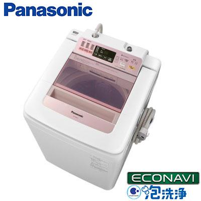 파나소닉 전자동 세탁기 NA-FA80H1-P핑크 세탁・탈수 8 kg