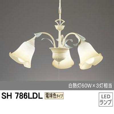 オーデリック 照明 シャンデリア LED25.5W・電球色 SH786LDL 【送料無料】【KK9N0D18P】