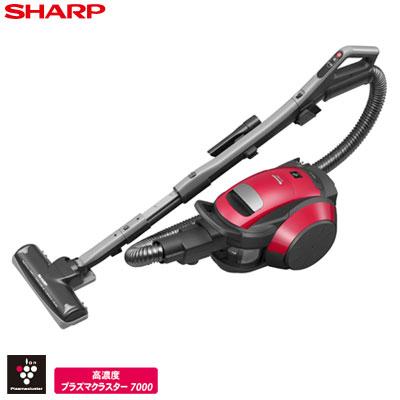 シャープ 掃除機 サイクロン式クリーナー プラズマクラスター EC-FX60T-R レッド系 【送料無料】【KK9N0D18P】