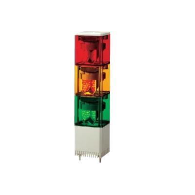 【キャッシュレス5%還元店】パトライト キュービックタワー LED小型積層回転灯 KES-310-RYG 赤黄緑 【送料無料】【KK9N0D18P】