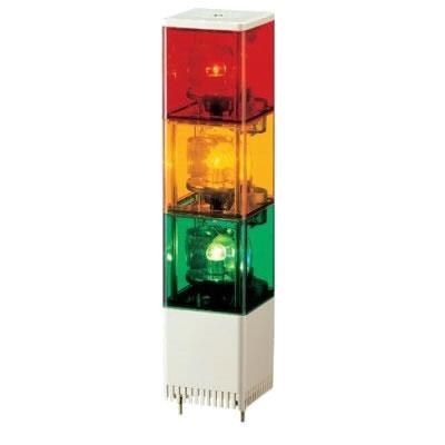 パトライト キュービックタワー 小型積層回転灯 KJS-310-RYG 赤黄緑 【送料無料】【KK9N0D18P】